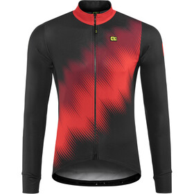 Alé Cycling Solid Pulse Longsleeve Jersey Heren, black-bordeaux-red